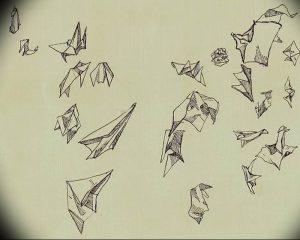 Фото тату бумажный самолетик 09.10.2018 №086 - tattoo paper airplane - tattoo-photo.ru