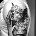 Фото тату валькирия 10.10.2018 №009 - valkyrie tattoo - tattoo-photo.ru