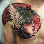 Фото тату валькирия 10.10.2018 №069 - valkyrie tattoo - tattoo-photo.ru