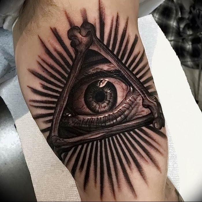 Тату масонский глаз фото
