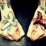 Фото тату голубь 26.10.2018 №002 - tattoo dove - tattoo-photo.ru