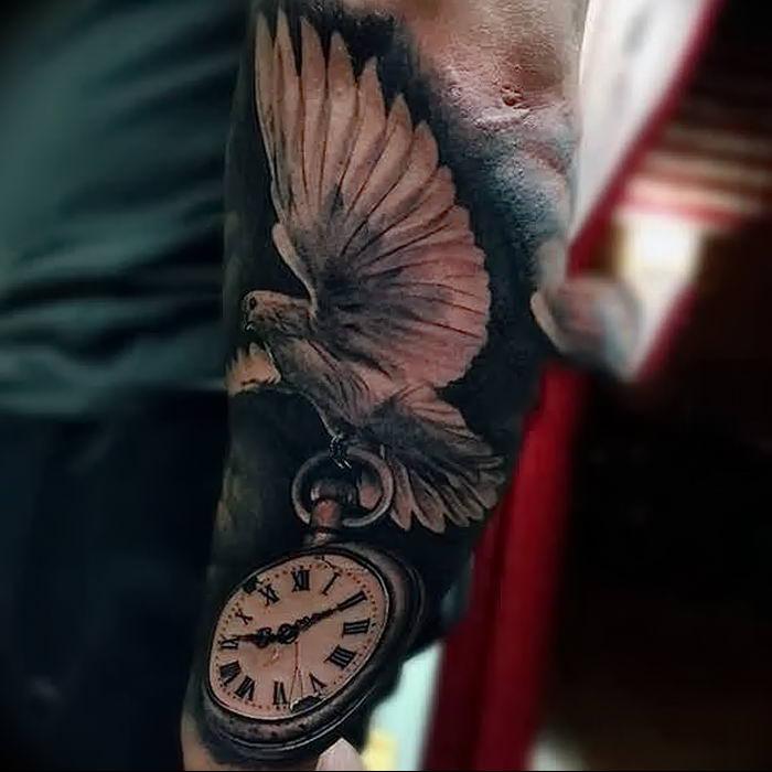 тату часы и птицы фото меняй