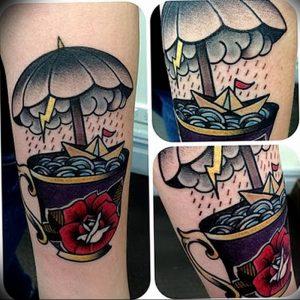 Фото рисунка тату зонтик 06.10.2018 №001 - tattoo umbrella - tattoo-photo.ru