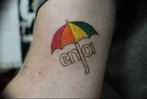Фото рисунка тату зонтик 06.10.2018 №008 - tattoo umbrella - tattoo-photo.ru