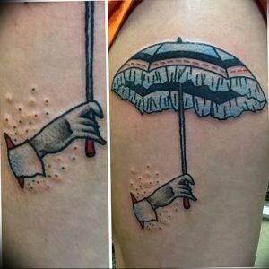 Фото рисунка тату зонтик 06.10.2018 №009 - tattoo umbrella - tattoo-photo.ru
