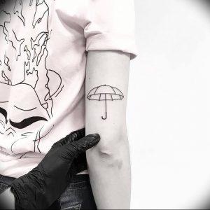 Фото рисунка тату зонтик 06.10.2018 №013 - tattoo umbrella - tattoo-photo.ru