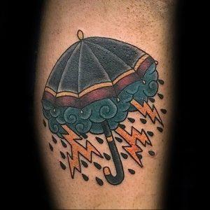 Фото рисунка тату зонтик 06.10.2018 №014 - tattoo umbrella - tattoo-photo.ru