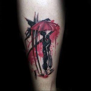 Фото рисунка тату зонтик 06.10.2018 №020 - tattoo umbrella - tattoo-photo.ru