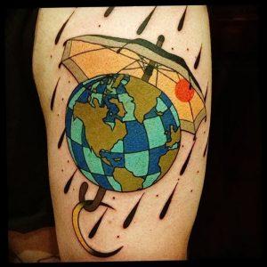 Фото рисунка тату зонтик 06.10.2018 №023 - tattoo umbrella - tattoo-photo.ru