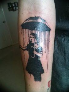 Фото рисунка тату зонтик 06.10.2018 №027 - tattoo umbrella - tattoo-photo.ru