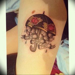 Фото рисунка тату зонтик 06.10.2018 №038 - tattoo umbrella - tattoo-photo.ru