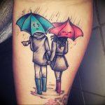 Фото рисунка тату зонтик 06.10.2018 №040 - tattoo umbrella - tattoo-photo.ru