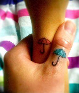 Фото рисунка тату зонтик 06.10.2018 №044 - tattoo umbrella - tattoo-photo.ru