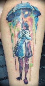 Фото рисунка тату зонтик 06.10.2018 №063 - tattoo umbrella - tattoo-photo.ru