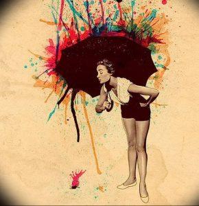 Фото рисунка тату зонтик 06.10.2018 №064 - tattoo umbrella - tattoo-photo.ru