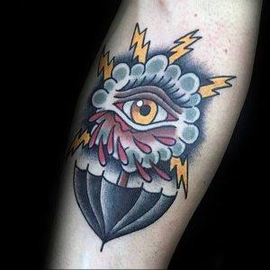 Фото рисунка тату зонтик 06.10.2018 №076 - tattoo umbrella - tattoo-photo.ru