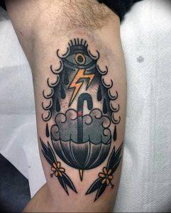 Фото рисунка тату зонтик 06.10.2018 №087 - tattoo umbrella - tattoo-photo.ru