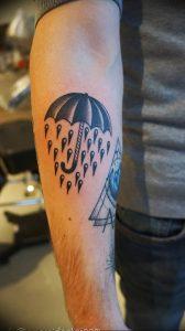 Фото рисунка тату зонтик 06.10.2018 №092 - tattoo umbrella - tattoo-photo.ru