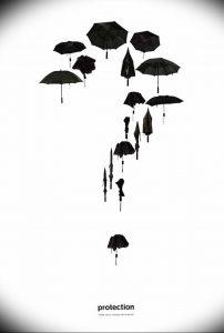Фото рисунка тату зонтик 06.10.2018 №108 - tattoo umbrella - tattoo-photo.ru