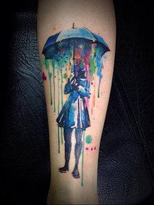 Фото рисунка тату зонтик 06.10.2018 №116 - tattoo umbrella - tattoo-photo.ru
