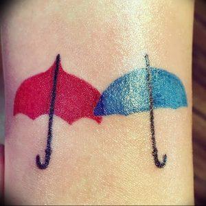 Фото рисунка тату зонтик 06.10.2018 №118 - tattoo umbrella - tattoo-photo.ru
