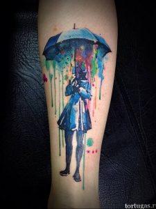 Фото рисунка тату зонтик 06.10.2018 №132 - tattoo umbrella - tattoo-photo.ru