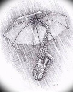 Фото рисунка тату зонтик 06.10.2018 №151 - tattoo umbrella - tattoo-photo.ru
