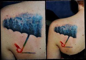 Фото рисунка тату зонтик 06.10.2018 №163 - tattoo umbrella - tattoo-photo.ru
