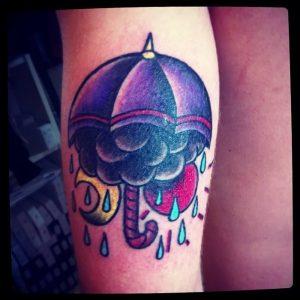 Фото рисунка тату зонтик 06.10.2018 №180 - tattoo umbrella - tattoo-photo.ru