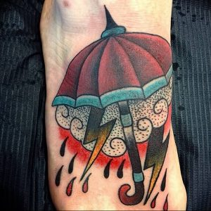 Фото рисунка тату зонтик 06.10.2018 №182 - tattoo umbrella - tattoo-photo.ru
