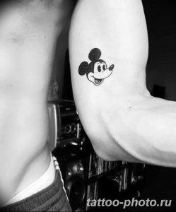 Фото рисунка Тату Микки Маус 20.11.2018 №023 - Tattoo Mickey Mouse - tattoo-photo.ru