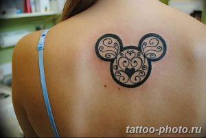 Фото рисунка Тату Микки Маус 20.11.2018 №028 - Tattoo Mickey Mouse - tattoo-photo.ru