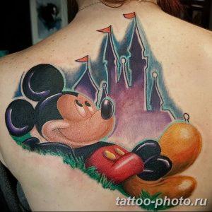 Фото рисунка Тату Микки Маус 20.11.2018 №035 - Tattoo Mickey Mouse - tattoo-photo.ru