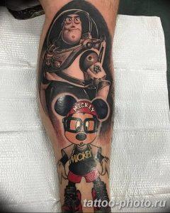 Фото рисунка Тату Микки Маус 20.11.2018 №040 - Tattoo Mickey Mouse - tattoo-photo.ru