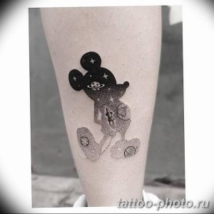 Фото рисунка Тату Микки Маус 20.11.2018 №054 - Tattoo Mickey Mouse - tattoo-photo.ru