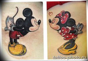 Фото рисунка Тату Микки Маус 20.11.2018 №062 - Tattoo Mickey Mouse - tattoo-photo.ru