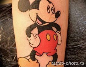 Фото рисунка Тату Микки Маус 20.11.2018 №074 - Tattoo Mickey Mouse - tattoo-photo.ru