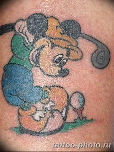 Фото рисунка Тату Микки Маус 20.11.2018 №075 - Tattoo Mickey Mouse - tattoo-photo.ru