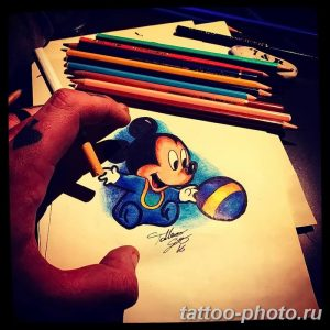 Фото рисунка Тату Микки Маус 20.11.2018 №154 - Tattoo Mickey Mouse - tattoo-photo.ru