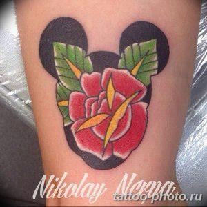 Фото рисунка Тату Микки Маус 20.11.2018 №203 - Tattoo Mickey Mouse - tattoo-photo.ru