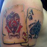 Фото рисунка Тату туз пиковый 20.11.2018 №033 - Tattoo ace of spades - tattoo-photo.ru