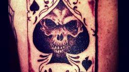 Фото рисунка Тату туз пиковый 20.11.2018 №037 - Tattoo ace of spades - tattoo-photo.ru