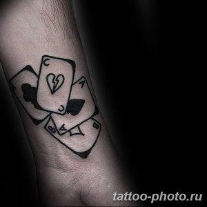 Фото рисунка Тату туз пиковый 20.11.2018 №048 - Tattoo ace of spades - tattoo-photo.ru