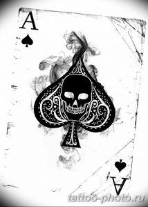 Фото рисунка Тату туз пиковый 20.11.2018 №057 - Tattoo ace of spades - tattoo-photo.ru