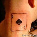 Фото рисунка Тату туз пиковый 20.11.2018 №068 - Tattoo ace of spades - tattoo-photo.ru