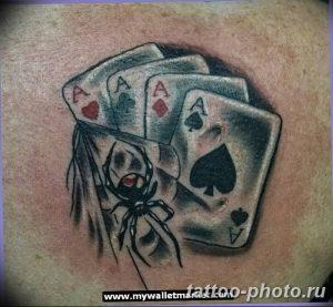 Фото рисунка Тату туз пиковый 20.11.2018 №082 - Tattoo ace of spades - tattoo-photo.ru