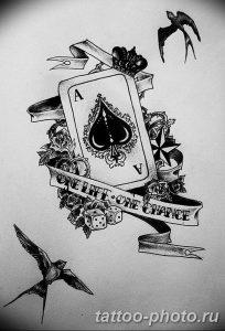 Фото рисунка Тату туз пиковый 20.11.2018 №087 - Tattoo ace of spades - tattoo-photo.ru