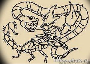 Фото рисунка скорпион 24.11.2018 №253 - photo tattoo scorpion - tattoo-photo.ru