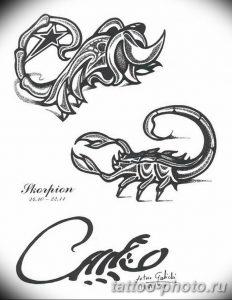 Фото рисунка скорпион 24.11.2018 №455 - photo tattoo scorpion - tattoo-photo.ru