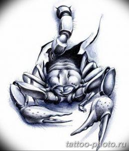 Фото рисунка скорпион 24.11.2018 №457 - photo tattoo scorpion - tattoo-photo.ru